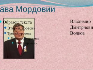 Глава Мордовии Владимир Дмитриевич Волков Волков Владимир Дмитриевич