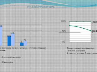 Исследовательская часть. ряд 1 ряд 2 100% 0% 70% 60% 27% 33% 3% 7% - Взрослое