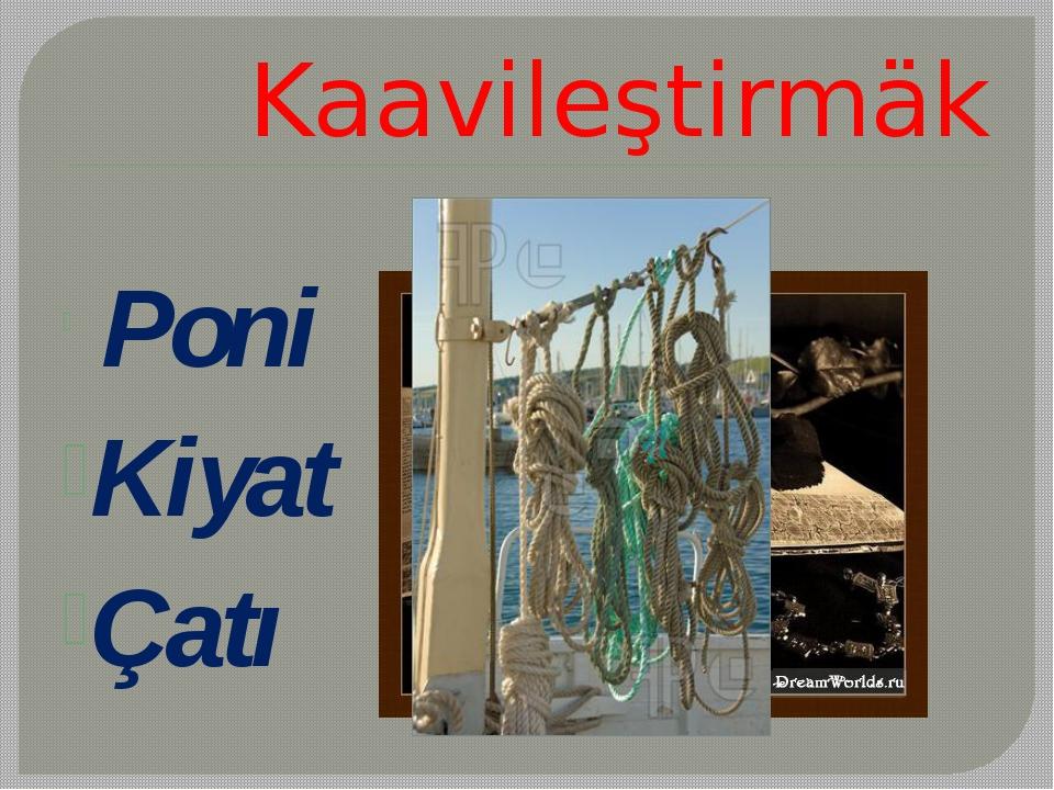 Kaavileştirmäk Poni Kiyat Çatı
