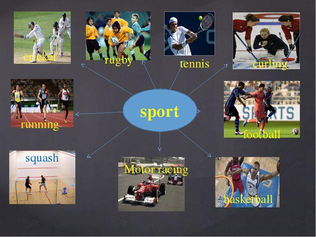 sport squash curling rugby cricket running Motor racing tennis football bask...