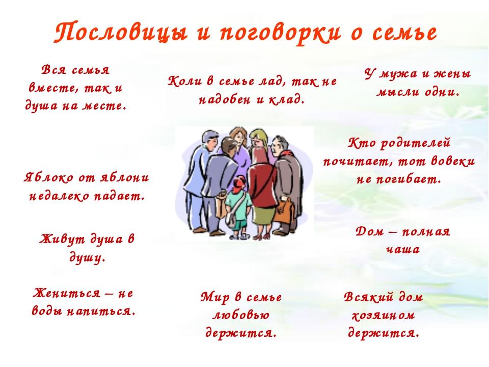 Пословицы и поговорки о семье Яблоко от яблони недалеко падает. Кто родителей...