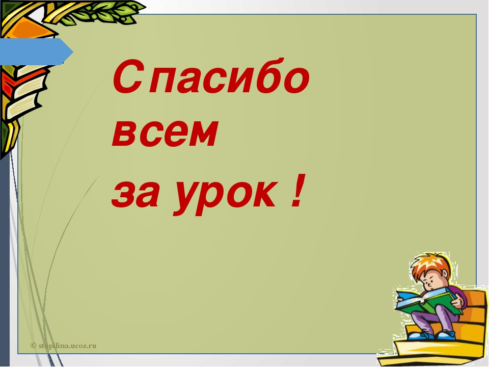 Спасибо всем за урок ! © stopilina.ucoz.ru