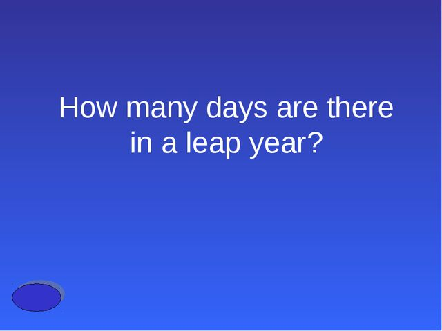 How many days are there in a leap year?