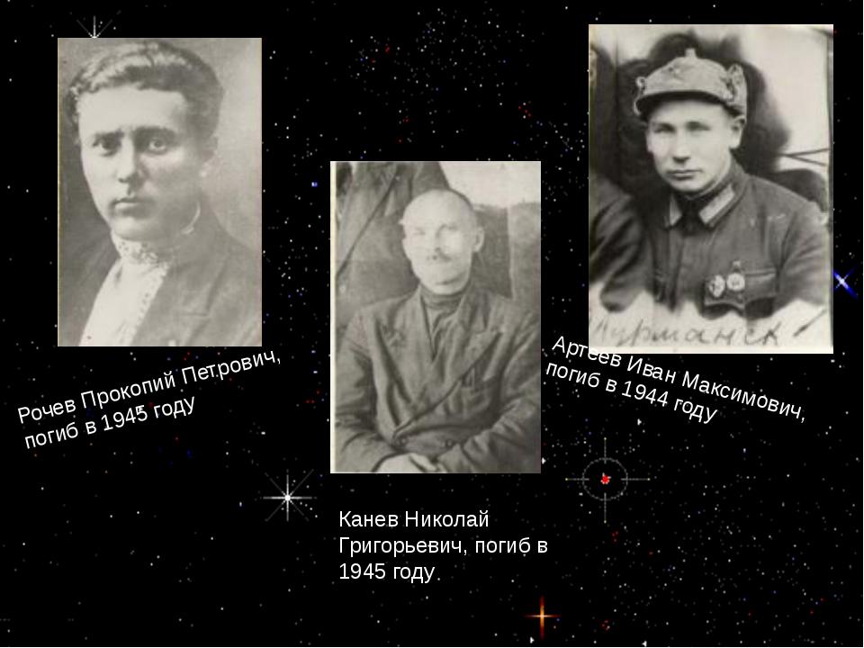 Артеев Иван Максимович, погиб в 1944 году Рочев Прокопий Петрович, погиб в 1...