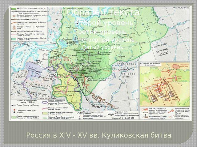 Россия в XIV - XV вв. Куликовская битва