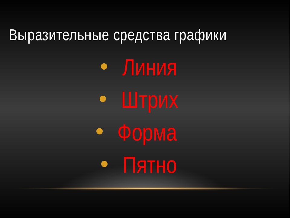 Выразительные средства графики Линия Штрих Форма Пятно
