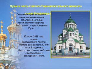 Храм в честь Святого Равноапостольного великого князя Владимира в Астрахани П