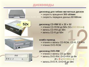 дисководы дисковод для гибких магнитных дисков скорость вращения 300 об/мин с