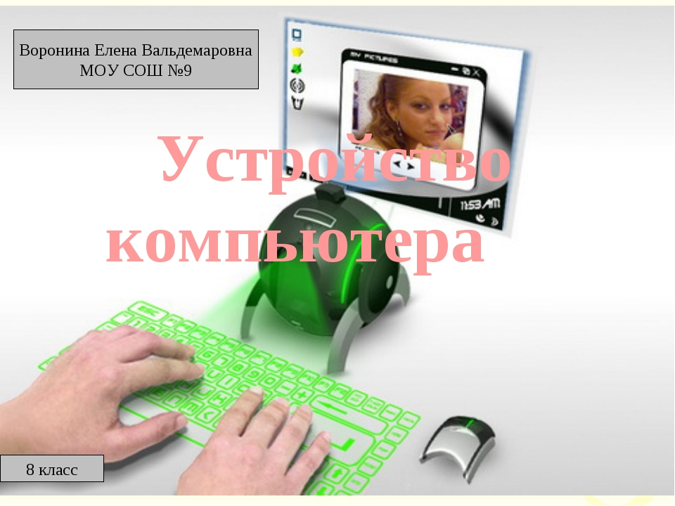 Устройство компьютера Воронина Елена Вальдемаровна МОУ СОШ №9 8 класс