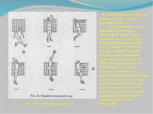 В прыжке плечи и бьющая рука отводится назад, туловище прогибается (рис.11).