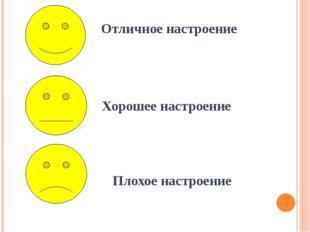 Отличное настроение Плохое настроение Хорошее настроение