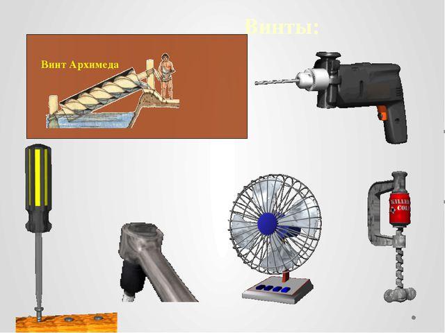 Винты: Винт Архимеда