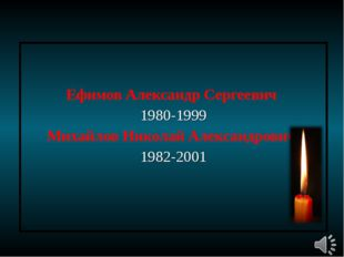 Ефимов Александр Сергеевич 1980-1999 Михайлов Николай Александрович 1982-2001