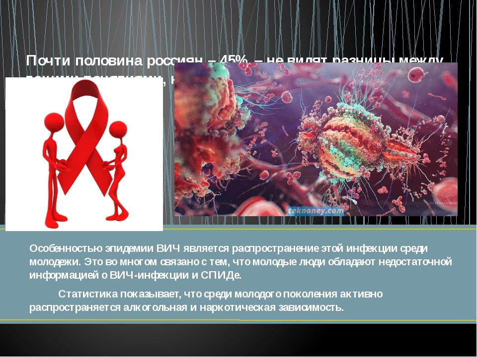 Особенностью эпидемии ВИЧ является распространение этой инфекции среди молоде...