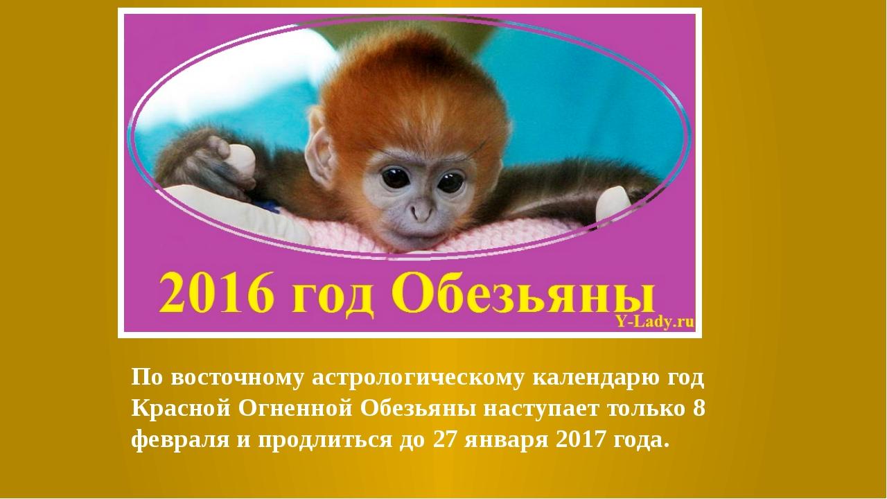 По восточному астрологическому календарю год Красной Огненной Обезьяны насту...