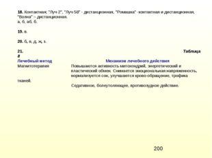 """18. Контактная; """"Луч-2"""", """"Луч-58"""" - дистанционная, """"Ромашка"""" -контактная и ди"""