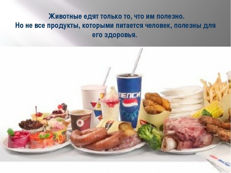 Животные едят только то, что им полезно. Но не все продукты, которыми питает...