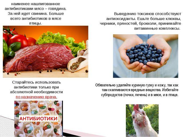 наименее нашпигованное антибиотиками мясо – говядина. За ней идет свинина. Бо...