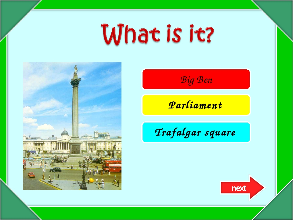 Big Ben Parliament Trafalgar square