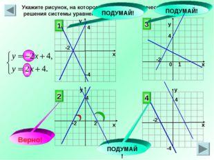 у Укажите рисунок, на котором приведена графическая иллюстрация решения систе