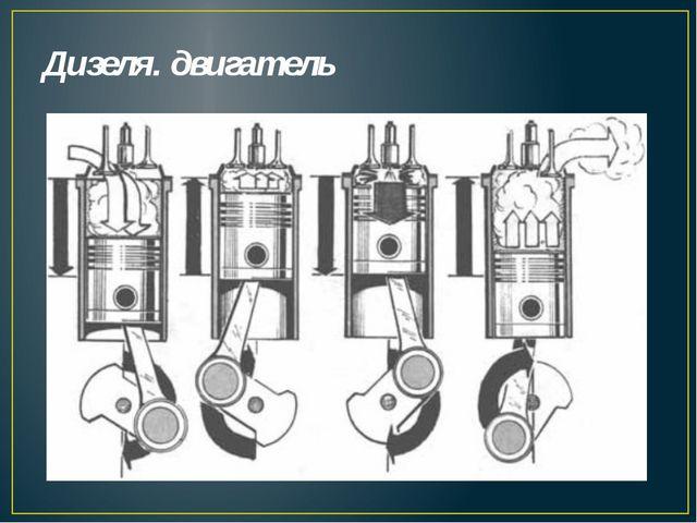 Дизеля. двигатель