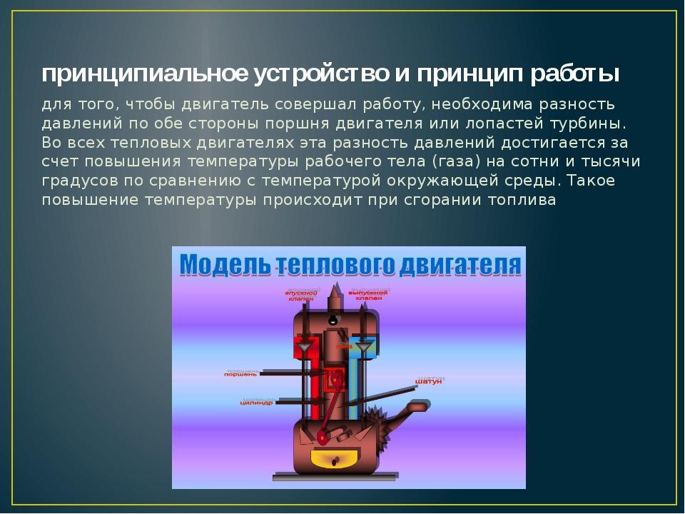 принципиальное устройство и принцип работы для того, чтобы двигатель совершал...