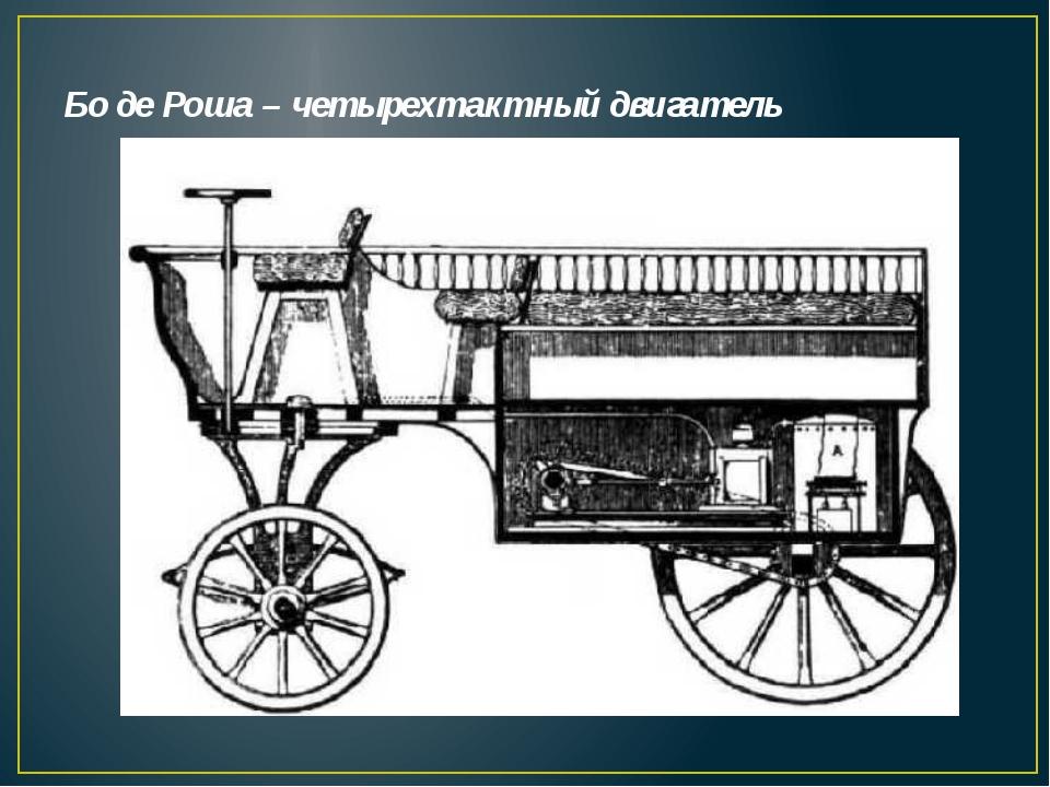 Бо де Роша – четырехтактный двигатель