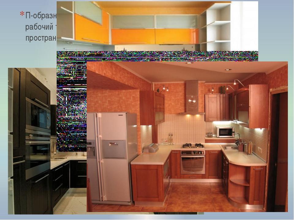 П-образная кухня позволяет создать компактный рабочий треугольник и функциона...