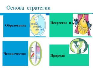Основа стратегии Образование Искусство и литература Человечество Природа