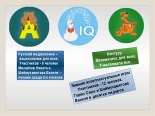 Русский медвежонок – языкознание для всех. Участников - 9 человек Михайлов Ни