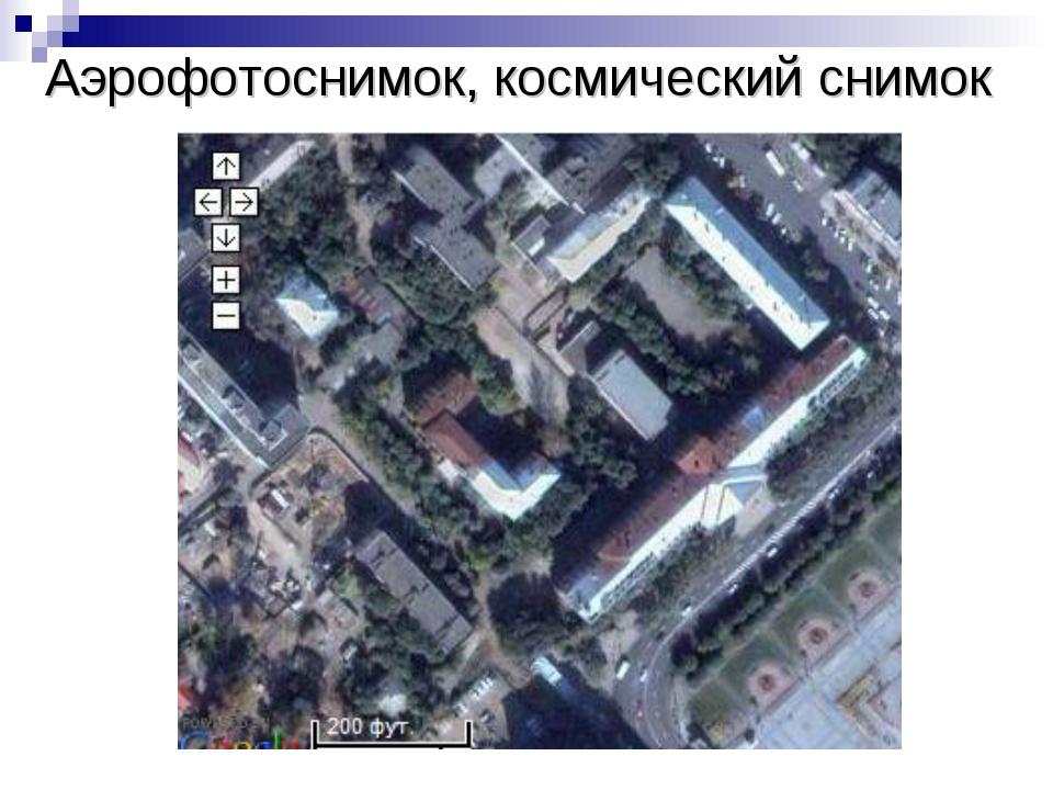 Аэрофотоснимок, космический снимок