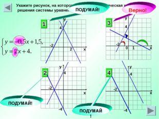 Укажите рисунок, на котором приведена графическая иллюстрация решения системы