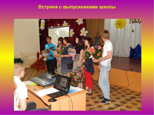 Встреча с выпускниками школы