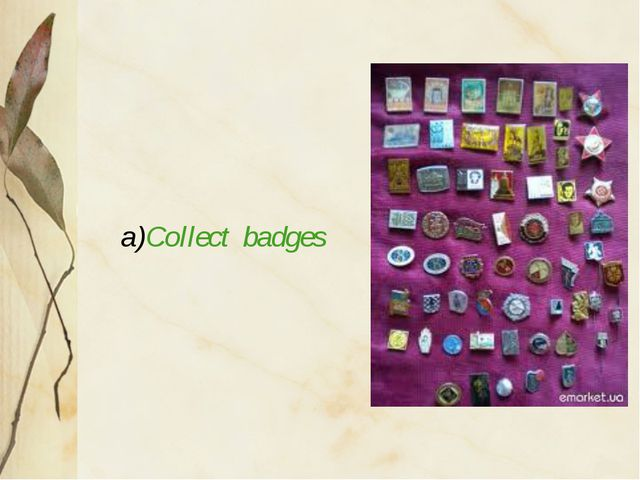 a)Collect badges