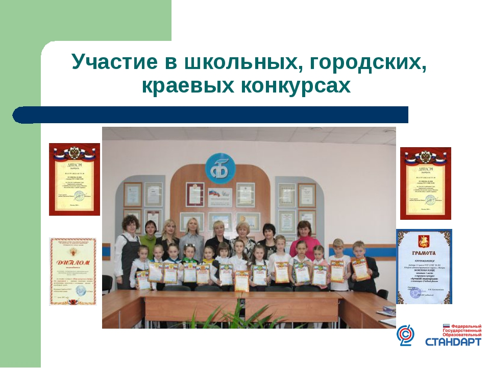 Участие в школьных, городских, краевых конкурсах