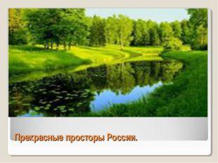 Прекрасные просторы России.
