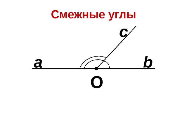 Смежные углы О b a с