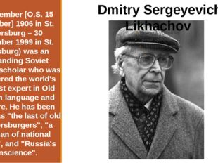 28 November [O.S. 15 November] 1906 in St. Petersburg – 30 September 1999 in