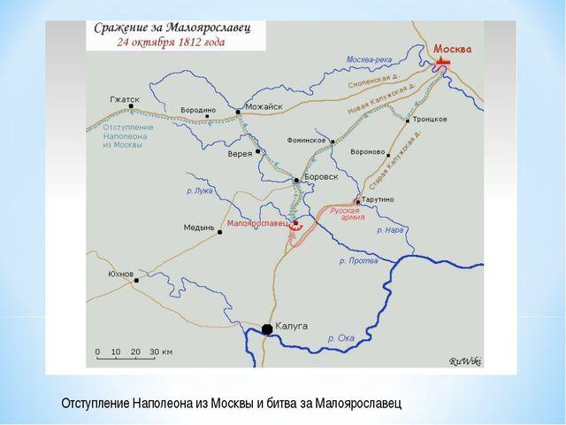 Отступление Наполеона из Москвы и битва за Малоярославец