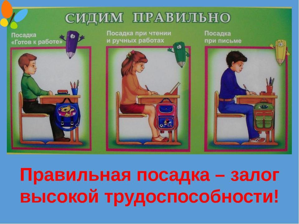 Фото как правильно сидеть при письме