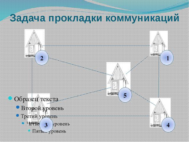 Задача прокладки коммуникаций 2 3 4 1 5