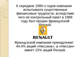 К середине 1990-х годов компания испытывала существенные финансовые трудности