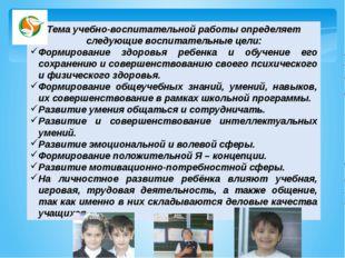 Тема учебно-воспитательной работы определяет следующие воспитательные цели: Ф