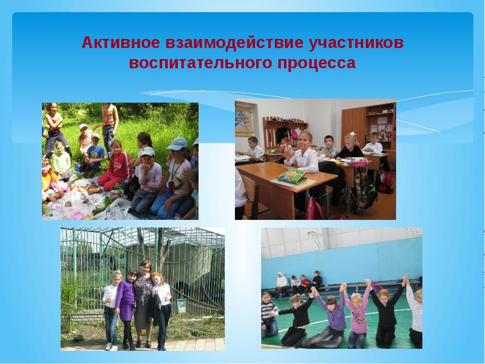 Активное взаимодействие участников воспитательного процесса