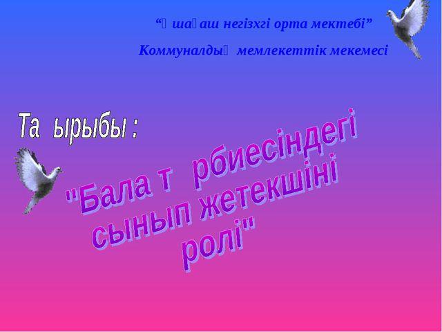 """""""Үшағаш негізхгі орта мектебі"""" Коммуналдық мемлекеттік мекемесі"""
