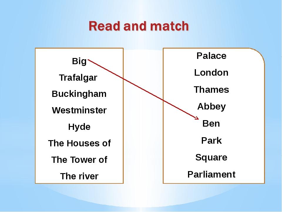 Palace London Thames Abbey Ben Park Square Parliament Big Trafalgar Buckingha...