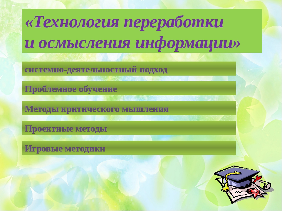 «Технология переработки и осмысления информации» системно-деятельностный под...