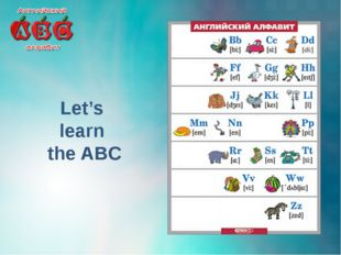 Let's learn the ABC
