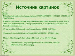 Источник картинок Корзина с подснежниками http://media.vorotila.ru/ru/items/t