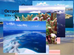 Суша в океане Остров – небольшой участок суши, со всех сторон омываемый водой.